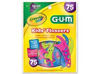 Детская зубная нить с ароматом винограда Crayola Kids Flossers Grape Flavor 75 штук (USA)