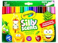 Ароматизированные легко-смываемые фломастеры Crayola Silly Scents Washable Markers 12 штук (USA)
