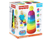 """Пирамидка-Стаканчики """"Маленький-Большой"""" Fisher-Price Brilliant Basics Stack & Roll Cups (с 6 месяцев) (USA)"""